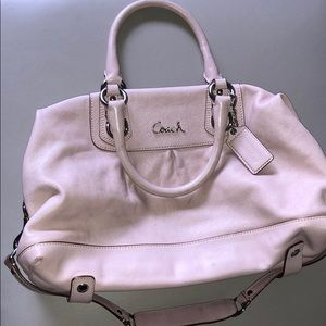 Pink classic coach bag. Barely used